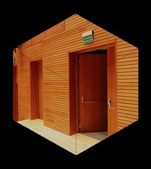 Дерев'яні протипожежні (вогнестійкі) двері