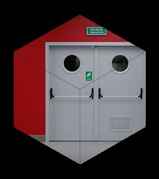 Металеві протипожежні (вогнестійкі) двері