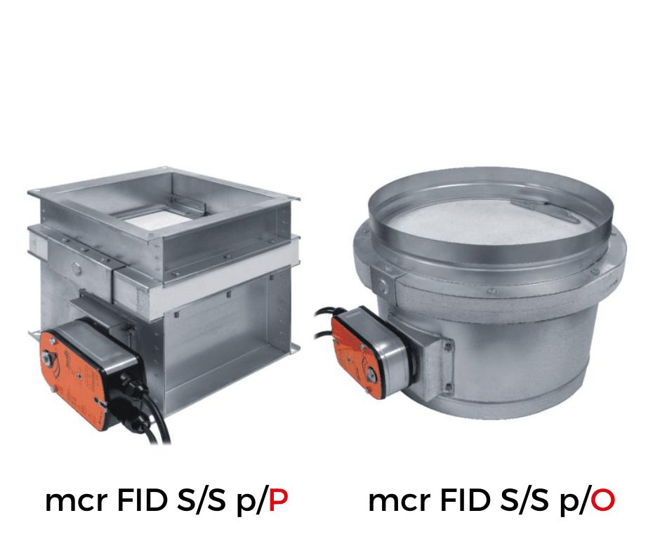 Клапан протипожежний mcr FID S/S p/Р(О) ✅ | МЕРКОР ✅